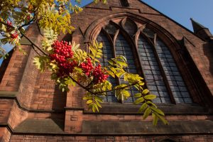 church and rowan tree